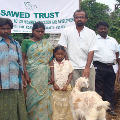 Goat distribution to Tribal and Dalit families to promote girl child education