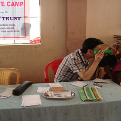 SAWED Eye Camp in a Remote Village